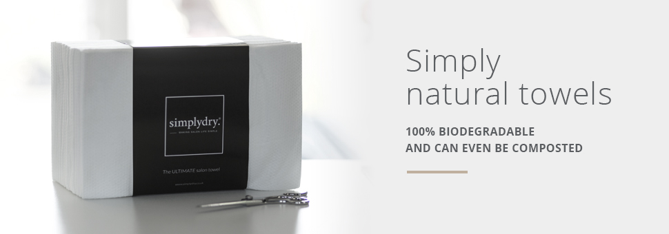 Simplydry disposable salon towels - 100% Biodegradable