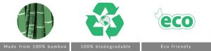 100% bamboo biodegrable eco-friendly